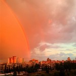 Оранжевое небо над Киевом 16 06 2014